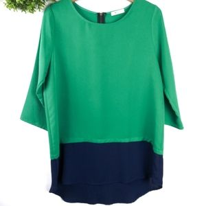Everly Anthro 3/4 Sleeve green top